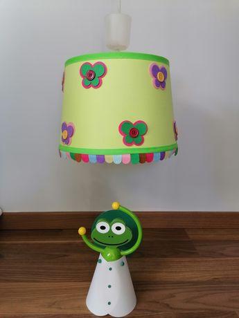 Lampa z kinkietem żaba