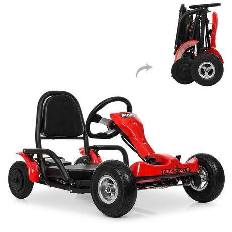 Электрокарт 2 мотора 350W складной надувные колеса PROFI 4042, 30км/ч