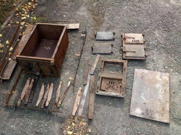 Części z rozbiórki pieca kuchennego kaflowego płyty