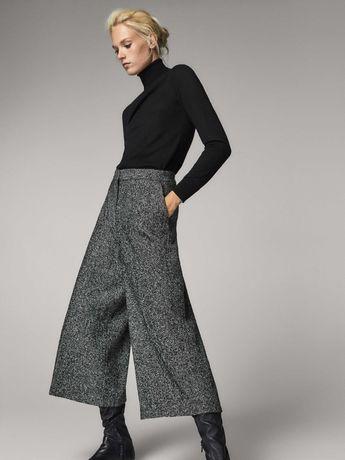 Эффектные широкие брюки-кюлоты Massimo Dutti