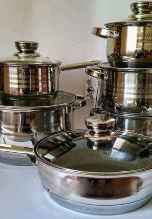 (Экономия времени) - посуда, набор - 18 предметов / Кастрюли - комплек