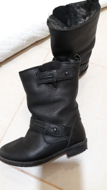 Кожаные сапоги Zara, ботинки, полусапожки