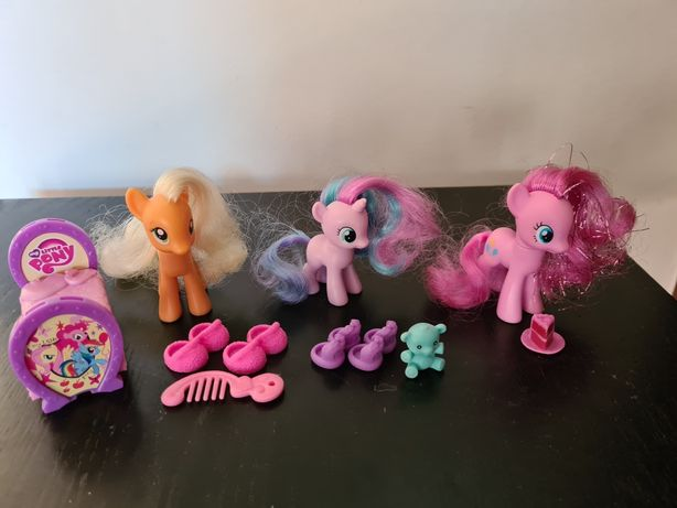 Koniki My little Pony: Apple Jack, Pinkie Pie, dziecko kucyk