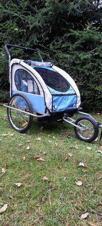 Bdb stan. Przyczepka rowerowa dla dwojga dzieci z funkcją wózka.