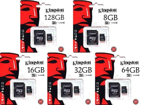 Cartão Memória MicroSD Kingston - 16GB