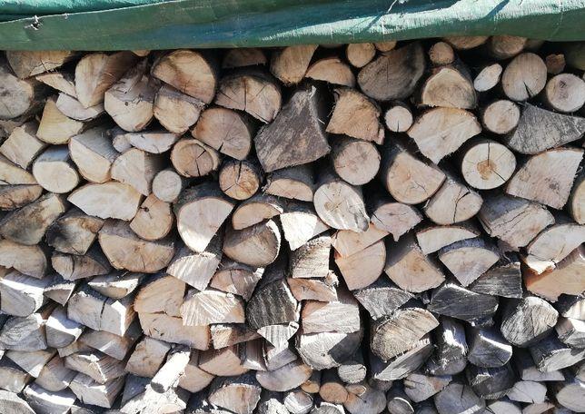 Drewno kominkowe, opałowe dąb, suche, sezonowane pod przykryciem