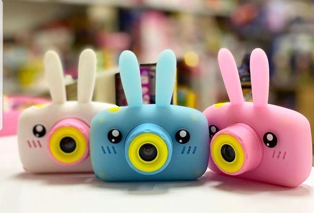 Фотоаппарат детский  розовый,голубой,белый