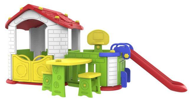 5w1 Duży Domek dla dzieci Zjeżdżalnia koszykówka CHD-808