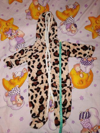 Леопардовый теплый бодик
