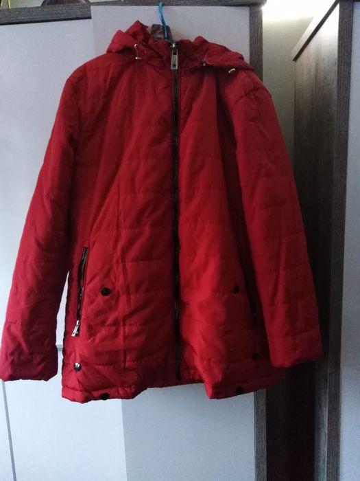 Kurtka czerwona z kapturem Chełmża - image 1