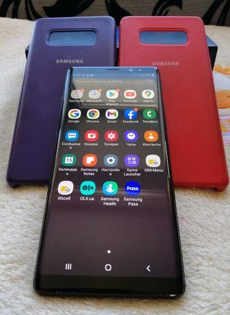 Срочно!Samsung Galaxy Note 8 Duos Black Original N9500 чехол в подарок