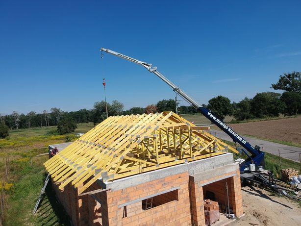 Usługi dźwig dekarski ciesielski budowlany żuraw Klaas podnośnik