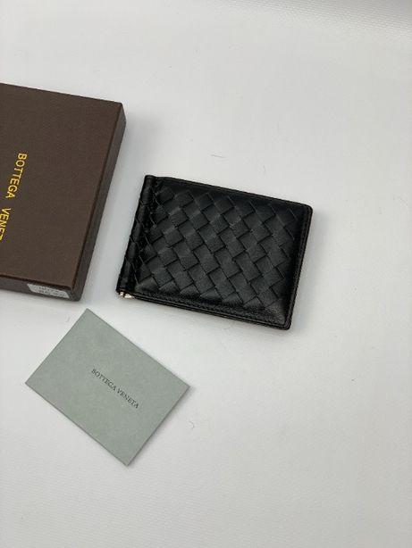 Зажим для денег кожа кардхолдер бумажник кошелек Bottega Veneta k118