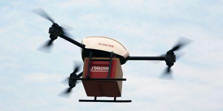Грузовий дрон коптер квадрокоптер безпілотник для доставки груза видео