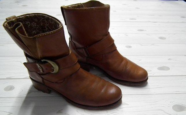 TIMBERLAND r. 7W /38 skórzane buty kozaki botki logowane oryginalne