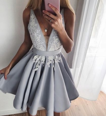 Lou blekitna szara sukienka 38 m