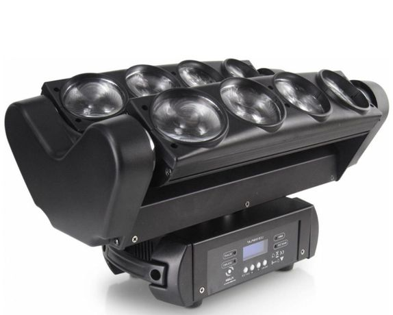 Efekt LED Spyder Moving Head 8x10W Cree (Głowa Led) Dmx