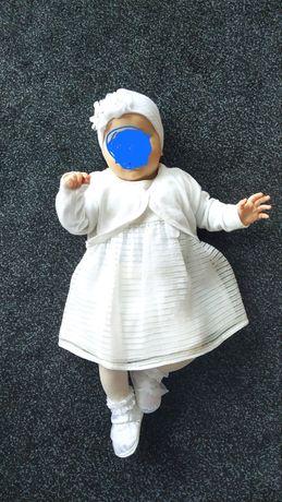 Ubranko do chrztu dla dziewczynki dla dziecka Mayoral ecru r 62 68