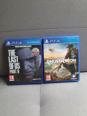 Gry ps4 the last of us 2 / ghost recon wildlands