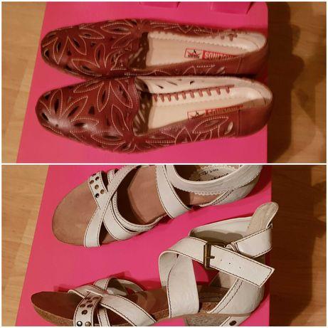 Buty ze skóry 40 plus Sandały gratis