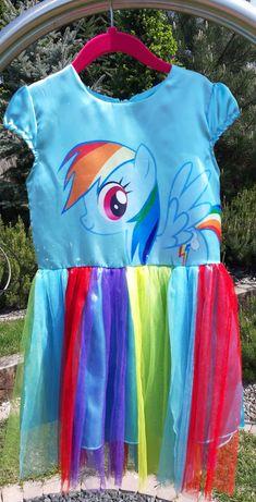 Strój  kostium sukienka My Little Pony Rainbow Dash 6-7 lat