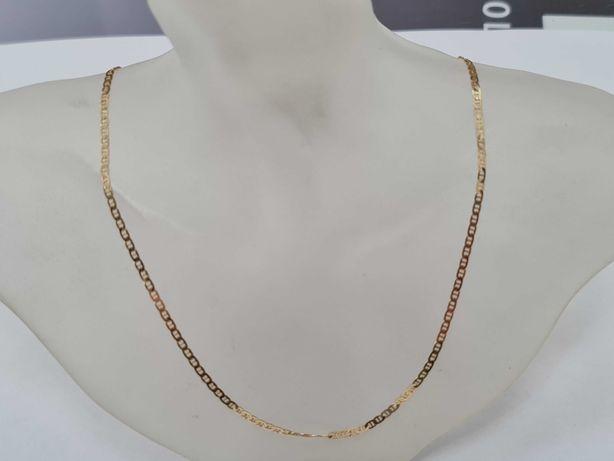 Piękny złoty łańcuszek damski/ 585/ 3.22 gram/ 42cm/ sklep Gdynia
