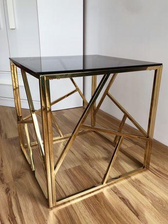 sprzedam nowy stolik kawowy złoty glamour