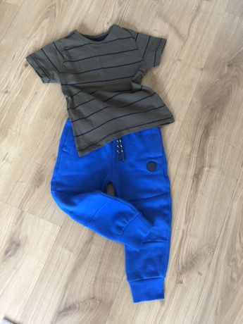 Komplet spodnie dresowe koszulka F&F 2-3 lata 98