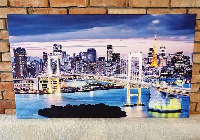 Obraz na płótnie Night City Duży 120x70cm - Premium