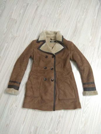 Kożuch damski płaszcz 40