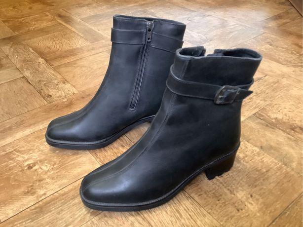 Новые женские демисезонные ботинки из натуральной кожи, на флисе, 38 р