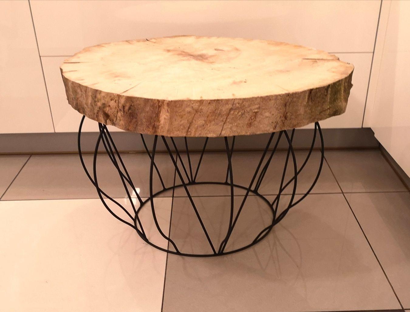 Podstawa do stolika kawowego live edge rustykalne loft hairpin