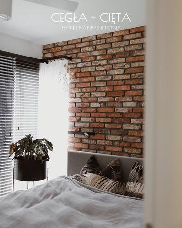 Cegła-Cięta płytki z cegły, płytki ceglane dekoracja wnętrz