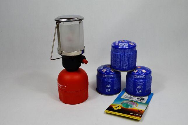 Lampka Lampa Gazowa z Iskrownikiem, 100 WAT 190g naboje gazowe