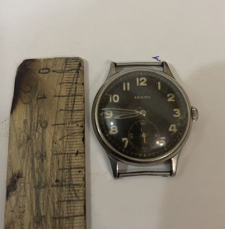 Немецкие военные часы ZENITH Swiss made, военный заказ Вермахта, 1940-