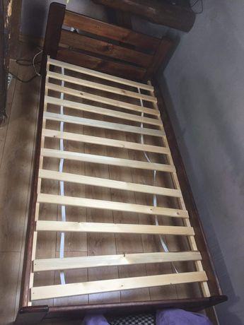 Łóżko jednoosobowe z materacem 90/200