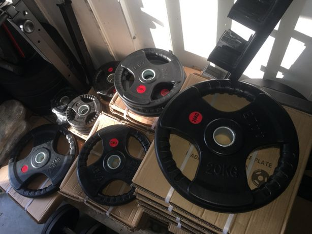 Zestaw Obciążenia Olimpijskiego 150kg 51mm żeliwo guma kierownice