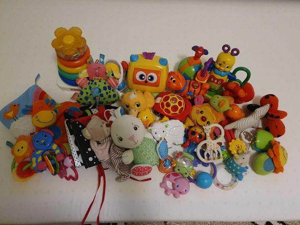 Zabawki gryzaki edukacujne ksiazeczki