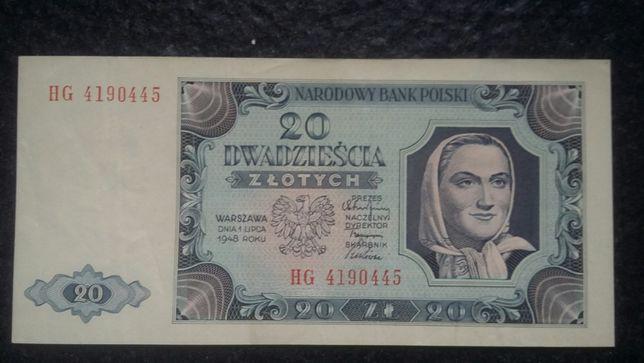 Banknot polski – 20 zł z 1948 r.