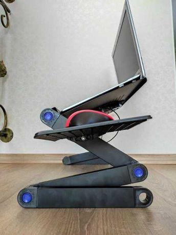 Столик подставка для ноутбука laptop table t9 складной с охлаждением