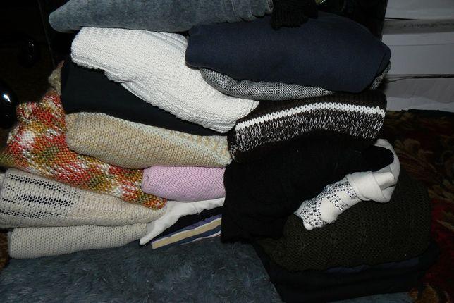 paka ubrań l-xl swetry, bluzy, spodnie