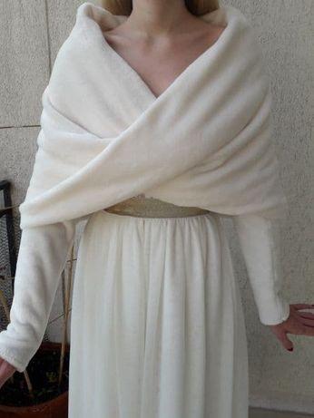 Bolerko ślubne w rozmiarze S, M lub L / etola / sweter / komin