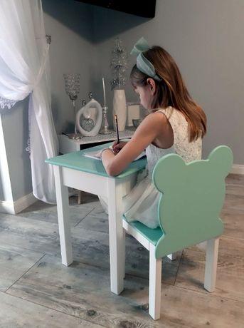 Stolik i krzesełko drewniane miś 107-122