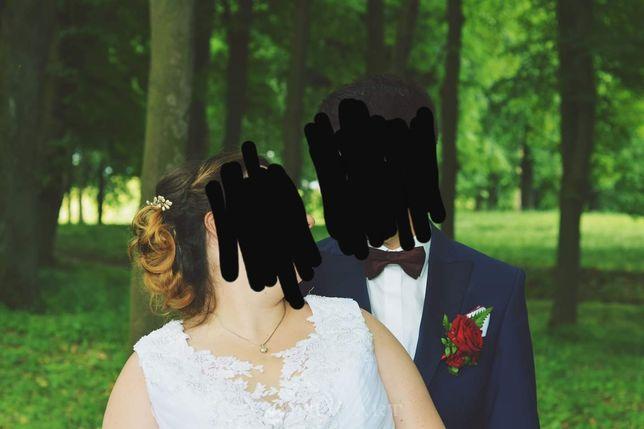 Suknia ślubna koronka tiul ślub wesele