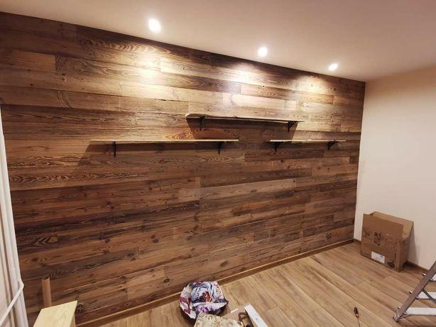 Oryginalne stare deski rustykalne drewno na ścianę wysyłka cały kraj