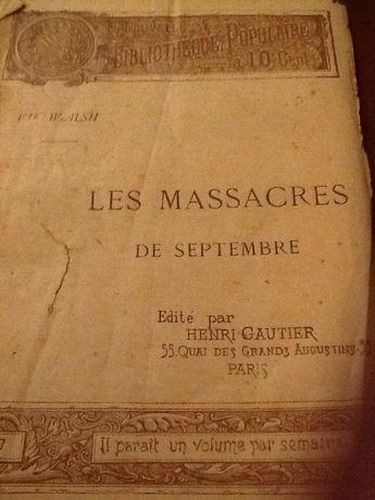 1892 - Les Massacres de Septembre - Bibliotheque Populaire