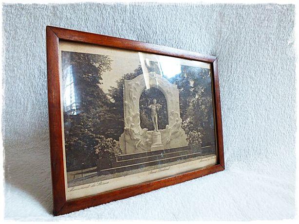 Stary Obraz J. Strauss Pomnik