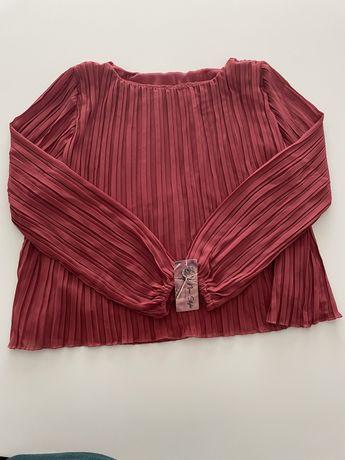 Blusa plissada muito gira rosa velho. Nova com etiqueta