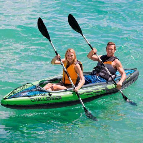 Kayak Insuflável c/ 2 Remos 351x76x38cm *Artigo Novo*