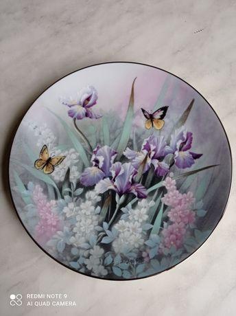 Фарфоровые тарелки, коллекционирование, цветы